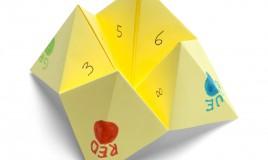 origami indovino, origami indovino istruzioni, origami indovino cosa scrivere, gioco inferno paradiso