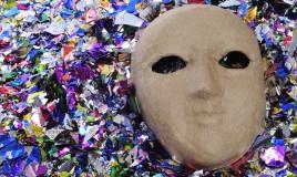 maschere carnevale fai da te, maschere cartapesta, come fare maschera di cartapesta