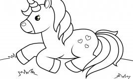 disegni unicorno da colorare, disegni unicorno