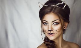 trucco, gatto, Carnevale
