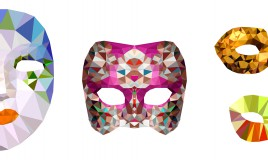 maschere carnevale cartoncino, decoupage carnevale, maschere carnevale fai da te