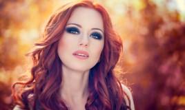 trucco, capelli rossi, colori giusti