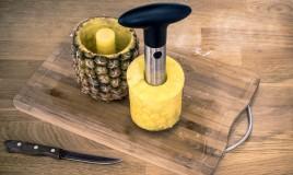 taglia ananas, come si usa, pulizia frutto