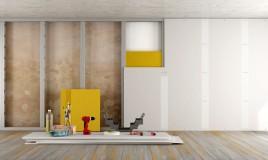 parete cartongesso fai da te, come fare parete cartongesso