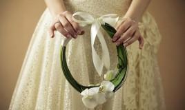 bouquet sposa, bouquet cerchio fai da te