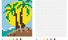pixel art estate, schemi pixel art, pixel art codici