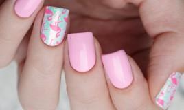 nail art, fenicottero, decorazione unghie
