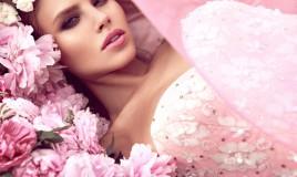 trucco da cerimonia, abito rosa, colori