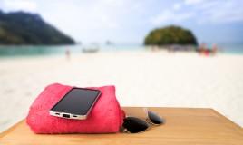 Telefono in spiaggia
