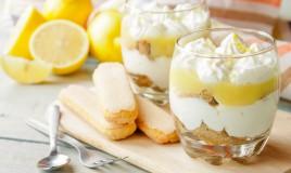 tisamisù al limone, senza uova, yogurt