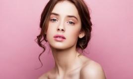 trucco semplice, rosa, make-up giorno