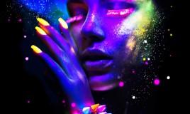 nail art, fluo, decorazione unghie