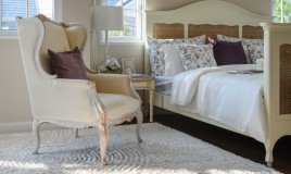 camera da letto, stile vintage, mobili