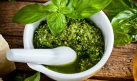 pesto genovese, basilico, senza aglio