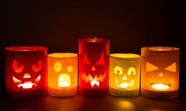 decorazioni halloween, lampada halloween, lanterna halloween, decoupage halloween