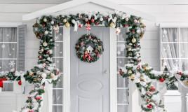 fuori porta natalizio fai da te, fuori porta natalizi particolari, fuori porta natale, fuori porta fai da te