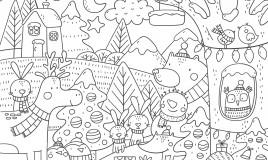 disegni natalizi da colorare, disegni natale da colorare