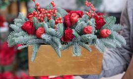 composizioni floreali natalizie, composizioni floreali natale