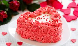 torte san valentino decorate panna, torte san valentino