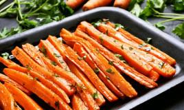 carote, miele, forno