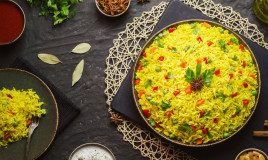 basmati, curry, verdure
