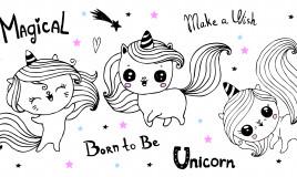 disegni unicorno kawaii da colorare, disegni unicorno da colorare, disegni unicorno