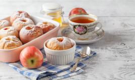 mele al forno, marmellata, preparazione
