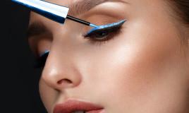 eyeliner colorati, come usarli, trucco occhi divertente