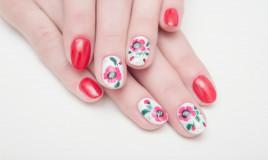 nail art, decorazione unghie, fiori