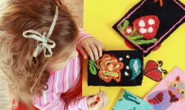 idee creative bambini lana