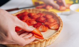 come decorare crostata fragole, decorazioni crostata fragole