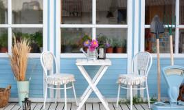 arredamento, veranda, esterni