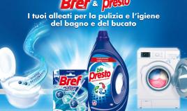 Bref e Bio Presto: i tuoi alleati per la pulizia e l'igiene del bagno e del bucato