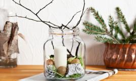 composizioni natalizie vasi vetro, composizioni natale vasi vetro, decorazioni natalizie vetro