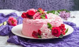 torte decorate fiori freschi, torte decorate fiori veri, torte fiori freschi