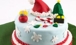 torte natalizie decorate pasta zucchero, torte natale decorate pasta zucchero