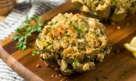 carciofi ripieni, ricetta pugliese, cucina regionale