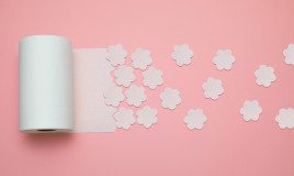 fiori carta igienica