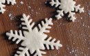 fiocco di neve pasta di zucchero, fiocco di neve fondente