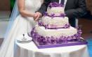 torte, matrimonio, fiori