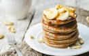 pancake, banana, avena