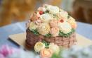 flower cake, torte con fiori, fiori in crema di burro