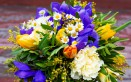 bouquet fiori con mimosa, bouquet con mimosa, mazzi fiori con mimosa, fiori festa delle donne