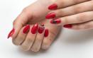 nail art rosso, nero, argento