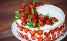 torte decorate panna fragole, torte decorate panna, torte decorate fragole