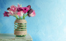 decorare vasi fiori, fai da te, metodi di decorazione