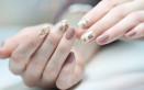 nail art, color carne, pesca