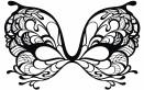 maschera farfalla da colorare, maschera farfalla, maschera da colorare