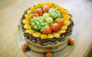 come decorare torta albicocche, torte decorate albicocche