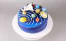 torte spaziali pasta zucchero, torta spaziale, torta tema spazio